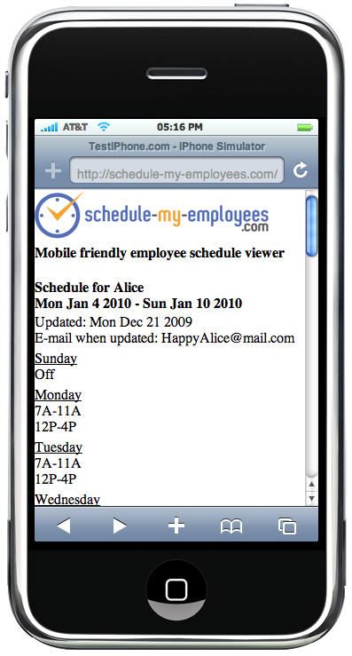 free employee schedule maker costs manager